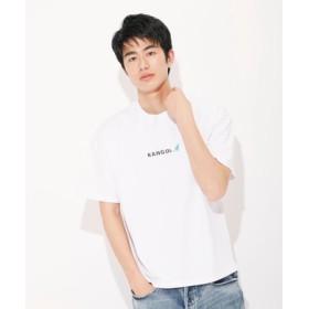 KANGOL ロゴ刺繍Tシャツ ユニセックス ホワイト