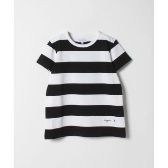 アニエスベー SCE2 TS ボーダーTシャツ レディース ブラック 1 【agnes b.】