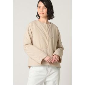Pao de lo 【リバーシブル】ラバラン中綿ショートコート テーラードジャケット,ベージュ
