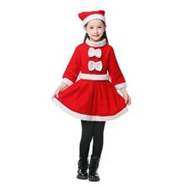 08212aafc9250 通販のトココ キッズ 子供服 帽子付き 女の子 男の子 クリスマス 衣装 100cm コスプレ クリスマス サンタ