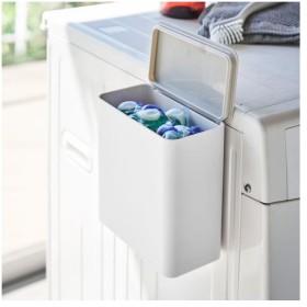 山崎実業 マグネット洗濯洗剤ボールストッカー プレート ホワイト 4700