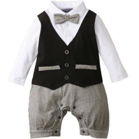 フォーマル 天竺長袖カバーオール(男の子 子供服。ベビー服) キッズフォーマル