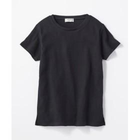 BACK NUMBER リブクルーネックTシャツ レディース ブラック