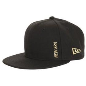 【Super Sports XEBIO & mall店:帽子】59FIFTY エッセンシャル ニューエラ バーチカルロゴ ブラック × メタリックゴールド 11899307