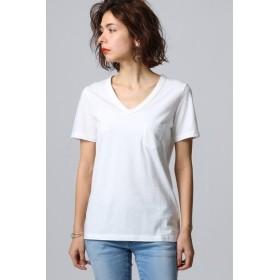 JET ジェット 【JET LOSANGELES】ガーメントダイ ポケットVネックTシャツ ホワイト