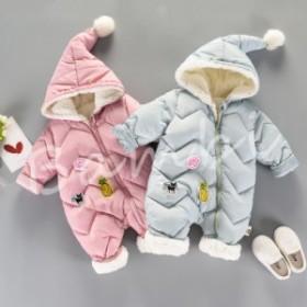 ベビー服 ロンパース カバーオール 新生児 赤ちゃん 帽子付き お出かけ