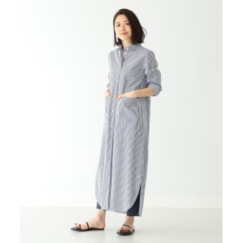 Demi-Luxe BEAMS / ベルト付 シャツワンピース レディース ワンピース STRIPE ONE SIZE