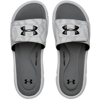 アンダーアーマー(UNDER ARMOUR) メンズ サンダル イグナイトバスルVスライド ホワイト 3021275 101 スポーツサンダル トレーニング シューズ 靴 UA