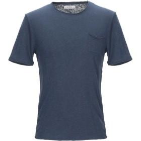 《期間限定セール開催中!》ALPHA STUDIO メンズ T シャツ ダークブルー 54 コットン 70% / 麻 30%