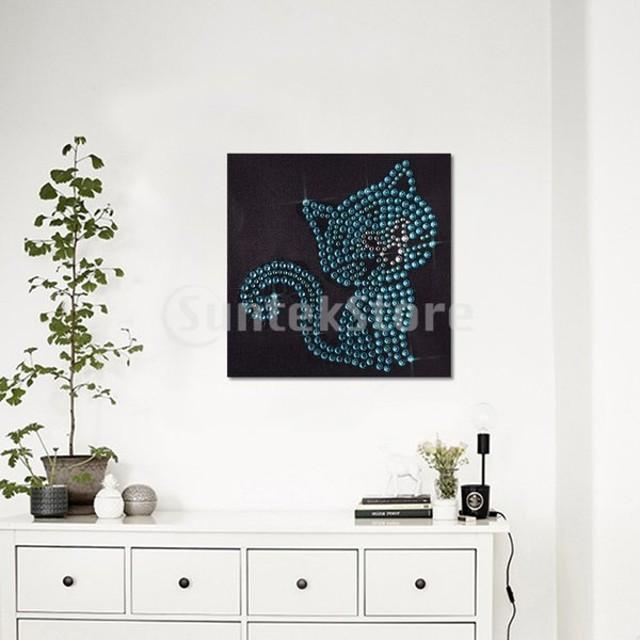 DIY 5D蛍光ラインストーンダイヤモンドペインティングクロスステッチキットの装飾