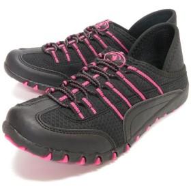 フットプレイス サンタバーバラ・ポロ・アンド・ラケットクラブ 2way 靴 スニーカー レディース ブラック 23cm 【FOOT PLACE】