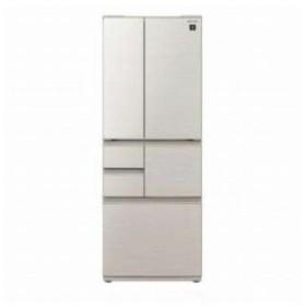 シャープ 6ドア冷蔵庫(502L・フレンチドア) SJ−F502−S シルバー系 (標準設置無料)