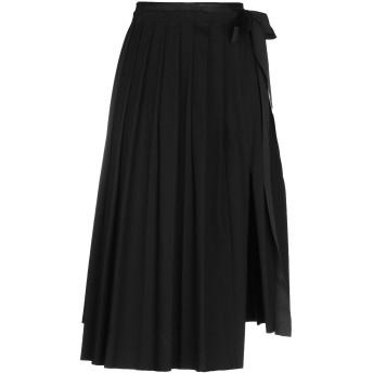 《期間限定セール開催中!》DIESEL レディース 7分丈スカート ブラック XS コットン 63% / ポリエステル 17% / レーヨン 16% / ポリウレタン 4%