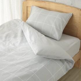 HOME COORDY カバー3点セット ベッド用 セミダブル ウィンドウペンチェックグレー ホームコーディ ウィンドウペンチェックGY セミダブルサイズ 布団カバーセット