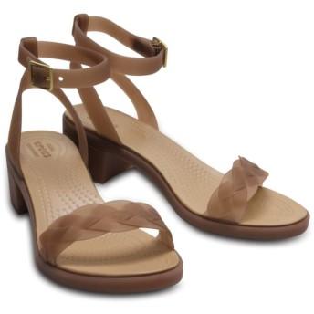 【クロックス公式】 クロックス イザベラ ブロック ヒール ウィメン Women's Crocs Isabella Block Heel ウィメンズ、レディース、女性用 ブラウン/茶 21cm,22cm,23cm,24cm,25cm heel ヒール パンプス ミュール 58%OFF
