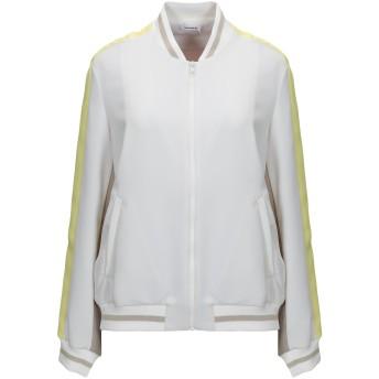 《セール開催中》P.A.R.O.S.H. レディース ブルゾン ホワイト XS ポリエステル 100% / レーヨン / ナイロン