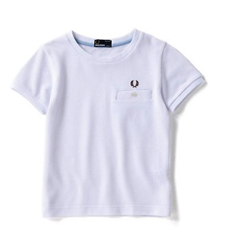 <FRED PERRY> ピケTシャツ(FY1674) シロ 【三越・伊勢丹/公式】