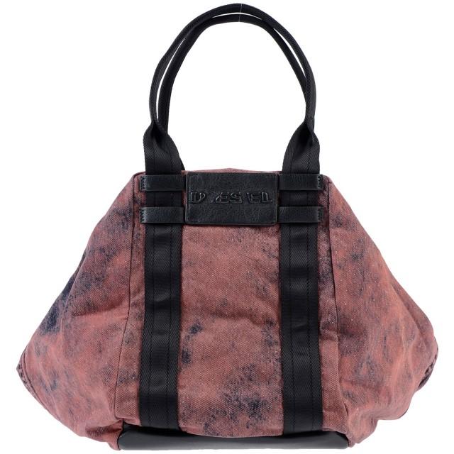 《セール開催中》DIESEL レディース ハンドバッグ ボルドー 紡績繊維 / 革