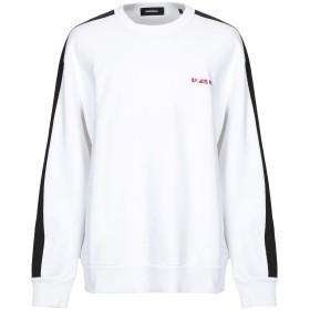 《セール開催中》DIESEL メンズ スウェットシャツ ホワイト L コットン 100%