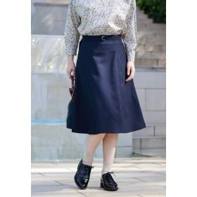 MACKINTOSH PHILOSOPHY 【ウォッシャブル】リネンライクスカート その他 スカート,ネイビー