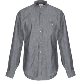 《期間限定 セール開催中》AT.P.CO メンズ デニムシャツ スチールグレー 39 コットン 100%