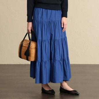 SALE【マッキントッシュ フィロソフィー ウィメン(MACKINTOSH PHILOSOPHY WOMEN)】 【ウォッシャブル】スーピマタイプライタースカート ブルー