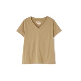【公式/フリーズマート】カルフォルニアコットンVネックTシャツ/女性/カットソー/ベージュ/サイズ:FR/コットン 100%