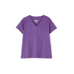 【公式/フリーズマート】カルフォルニアコットンVネックTシャツ/女性/カットソー/パープル/サイズ:FR/コットン 100%