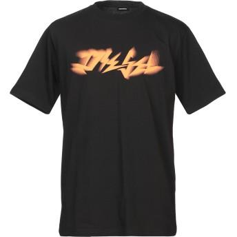 《9/20まで! 限定セール開催中》DIESEL メンズ T シャツ ブラック S コットン 100%