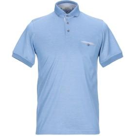 《期間限定セール開催中!》ALPHA STUDIO メンズ ポロシャツ パステルブルー 48 コットン 100%