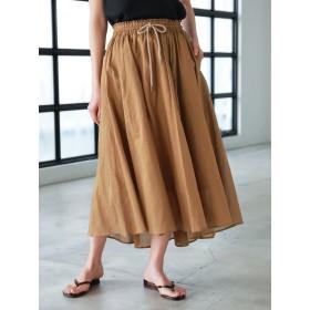 【6,000円(税込)以上のお買物で全国送料無料。】フレアギャザースカート
