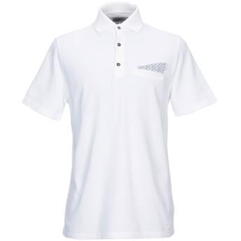 《期間限定セール開催中!》ALPHA STUDIO メンズ ポロシャツ ホワイト 50 コットン 100%