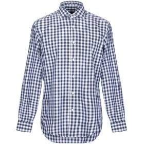 《期間限定 セール開催中》CALIBAN メンズ シャツ ダークブルー 38 コットン 100%