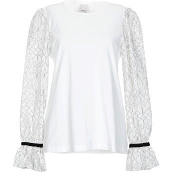 《セール開催中》PINKO レディース T シャツ ホワイト XS コットン 100% / ナイロン / ポリエステル