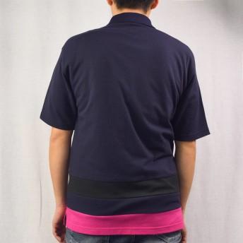 ポロシャツ - NEVEREND T/Cカノコ 裾切替え 2Bポロシャツ 9403-221