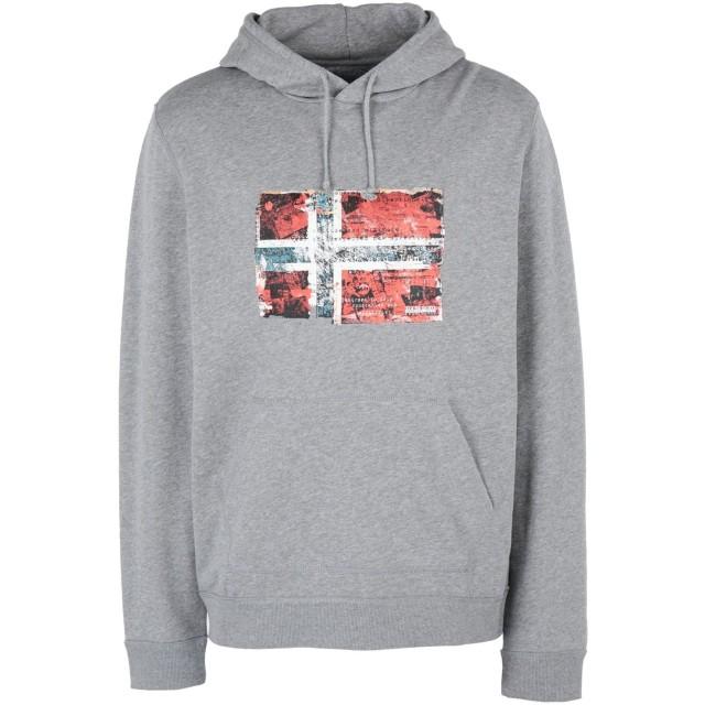 《セール開催中》NAPAPIJRI メンズ スウェットシャツ グレー S コットン 100% BEITEM H