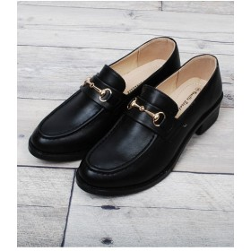 【47%OFF】シュークロビット付オックスフォードローファーレディースブラックM【Shoes in Closet】【セール開催中】
