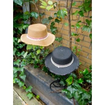 帽子全般 - チャイハネ 【カヤ】織りテープペーパーハット