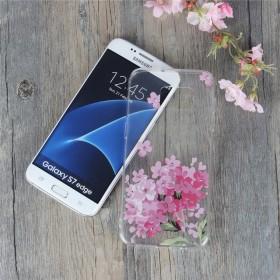 Galaxy S7 Edge 背面ケース 花柄 かわいい スマホケース デコ デコレーション おしゃれ Galaxy S7 Edge TPUケース 花柄 背面保護 携帯ケース クリアケース