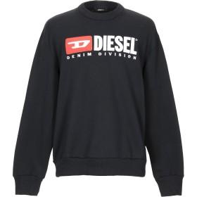 《セール開催中》DIESEL メンズ スウェットシャツ ブラック L コットン 100%