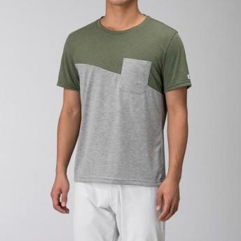 MIZUNO SHOP [ミズノ公式オンラインショップ] フィーリンテックポケットTシャツ[メンズ] 36 オリビンカーキ B2MA9023