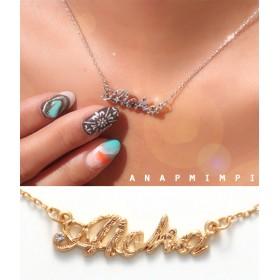 【セール開催中】ANAP(アナップ)Alohaモチーフハワイアンネックレス