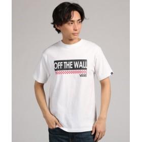 VANS 【WEB限定】ボックスロゴ&チェッカープリント半袖Tシャツ メンズ ホワイト