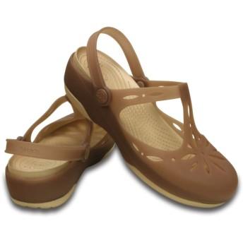 【クロックス公式】 クロックス カーリー カットアウト クロッグ ウィメン Women's Crocs Carlie Cutout Clog ウィメンズ、レディース、女性用 ブラウン/茶 21cm,22cm,23cm,24cm,25cm clog クロッグ サンダル 30%OFF