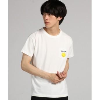 Lee 【WEB限定】スマイリーポケットプリントTシャツ メンズ ホワイト