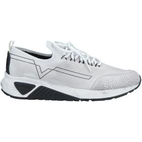 《セール開催中》DIESEL メンズ スニーカー&テニスシューズ(ローカット) ホワイト 40 ポリエステル / コットン