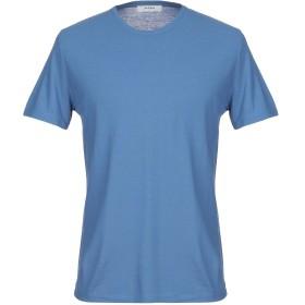 《セール開催中》ALPHA STUDIO メンズ T シャツ ブルー 50 コットン 100%