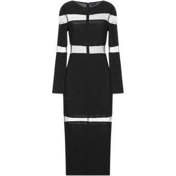 《セール開催中》ISABEL GARCIA レディース 7分丈ワンピース・ドレス ブラック M ポリエステル 60% / Lurex 40% / ナイロン