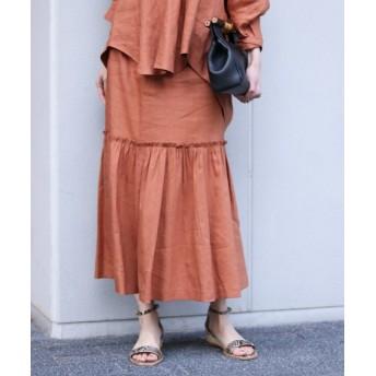 NOBLE 【COEL】 LINEN MERMAID スカート◆ キャメル 36