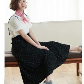 ロペピクニック(ROPE' PICNIC)/【WEB限定】サスペンダー付きフレアスカート
